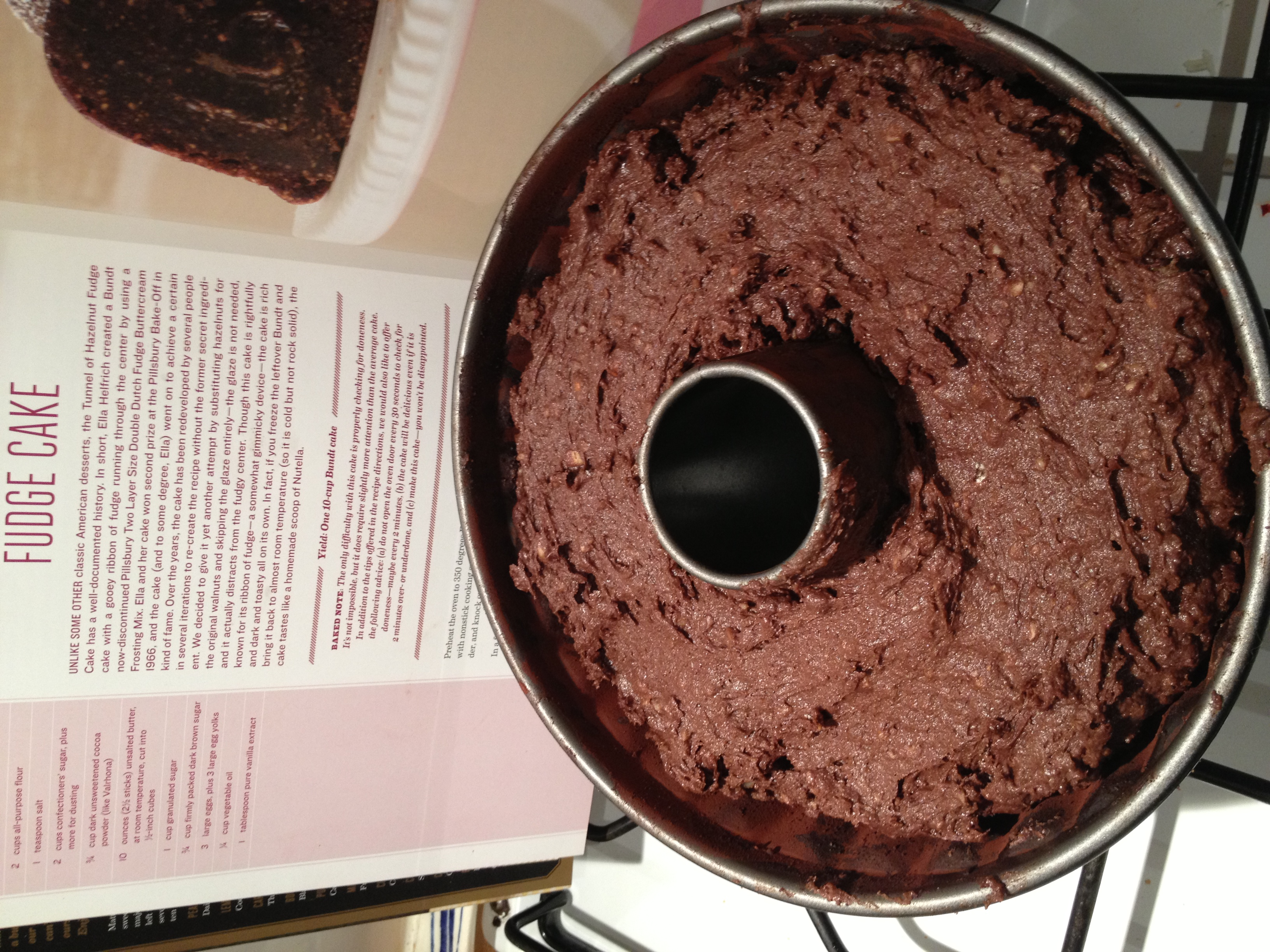Tunnel of Fudge Cake Fudge Cake in Pan